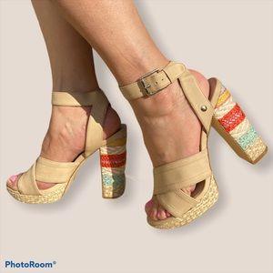 Mix No.6 Christania Platform Embroidered Sandal